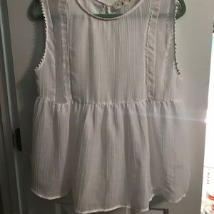 White sheer babydoll top